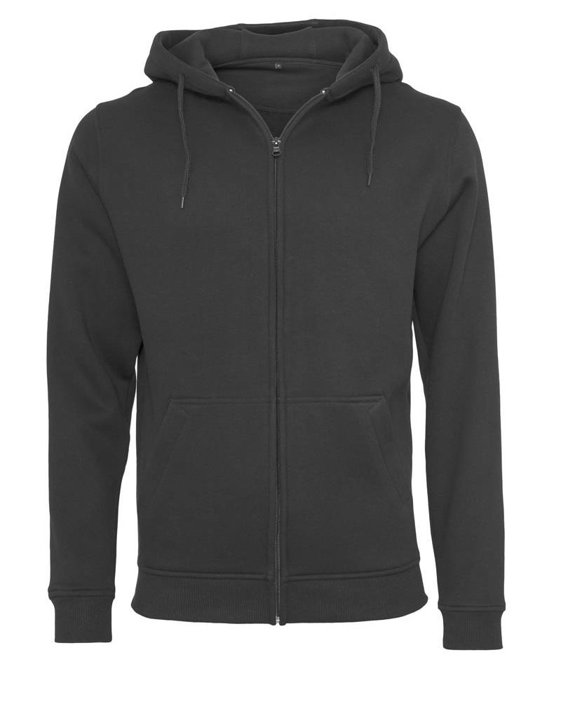 DOPE ON COTTON Hoody BYB012 zipper black