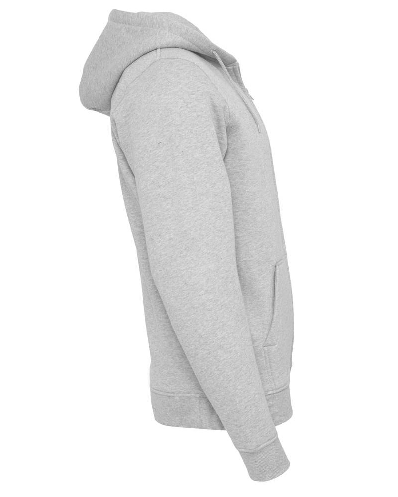 DOPE ON COTTON Hoody BYB012 zipper light grey