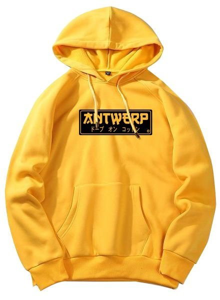 AW ANTWERP Hoodie Antwerp Jap style fresh yellow