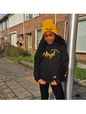 Hoodie Angel in Black & Yellow