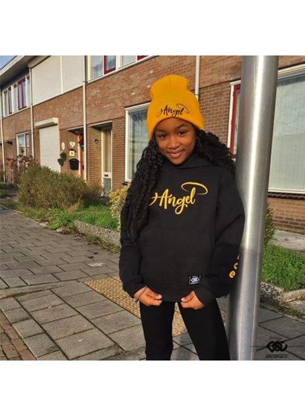 Hoodie Angel in Black & Yellow