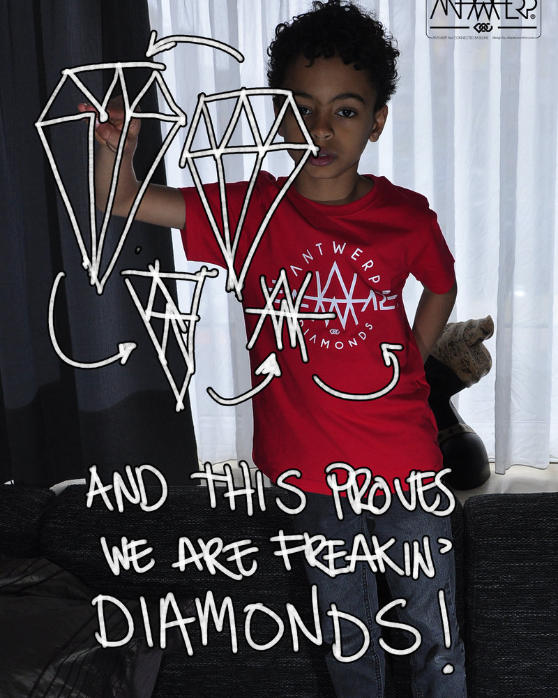 AW ANTWERP  Kids AW Diamonds T-shirt