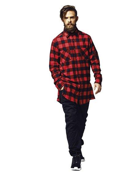 URBAN CLASSICS Side-Zip Long Checked Flanell Shirt