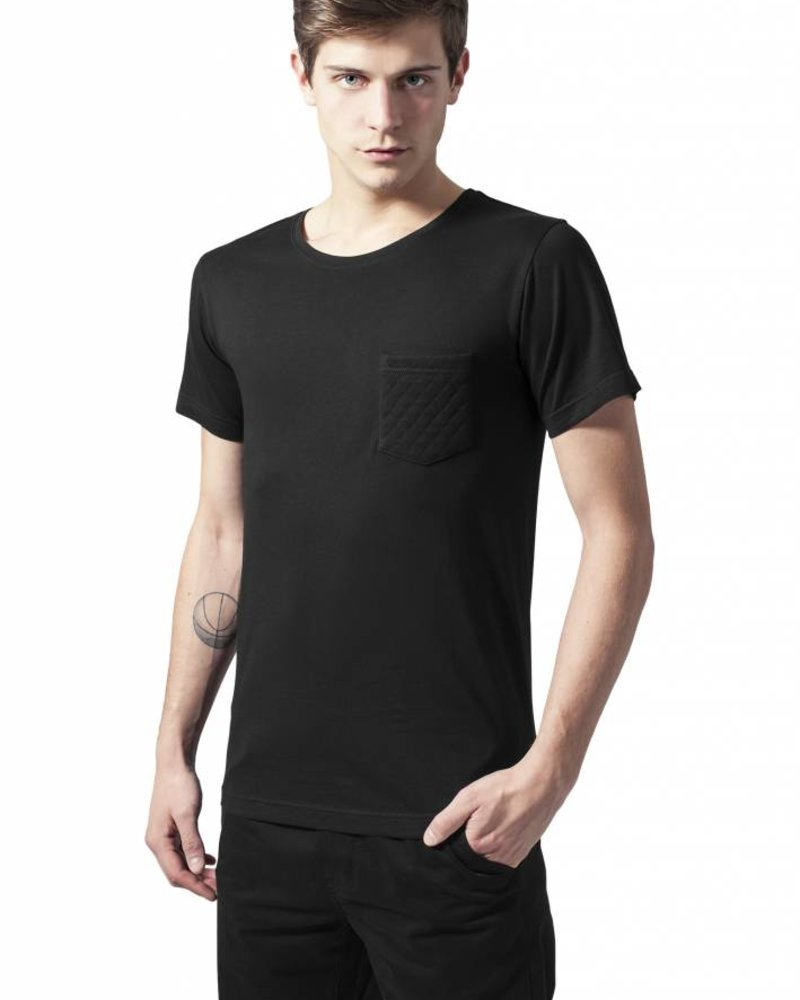 URBAN CLASSICS Quilted Pocket Tee