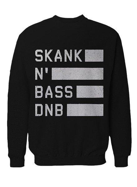 DOPE ON COTTON Skank N Bass Merchandise Crewneck - SNB Line Logo