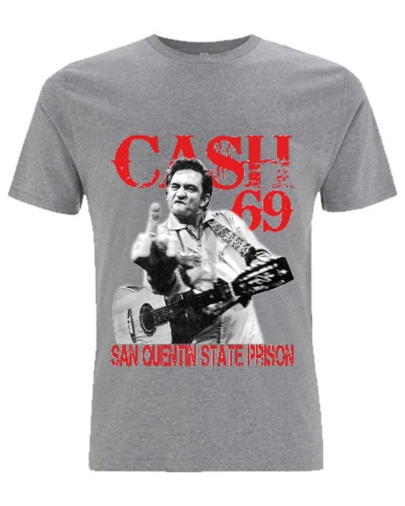 DOPE ON COTTON DOC Johnny Cash Finger Organic T-shirt