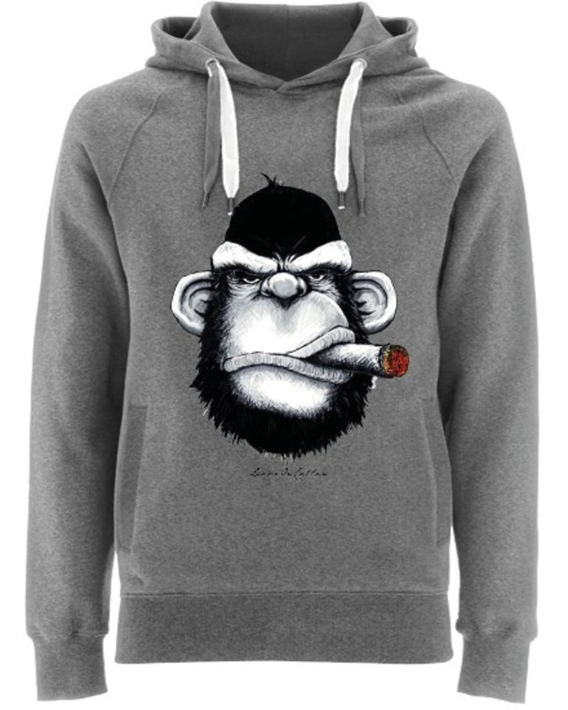 EARTH POSITIVE by Continental Clothing Hooded sweater  - Monkey Cigar by DOC