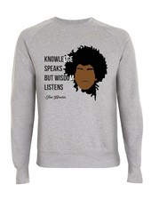 DOPE ON COTTON DOC Flat design Jimi Hendrix Organic Crewneck Sweater
