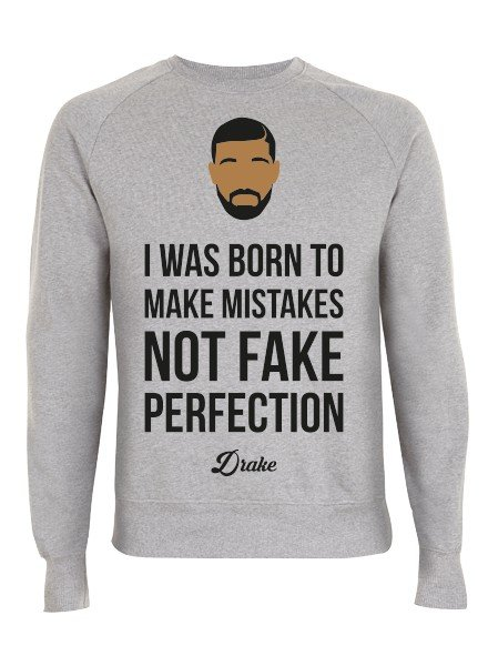 DOPE ON COTTON DOC Flat design Drake Organic Crewneck Sweater