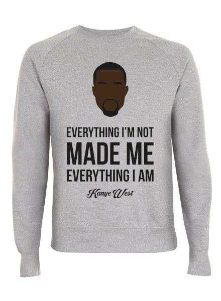 DOPE ON COTTON DOC Flat design Kanye Organic Crewneck Sweater