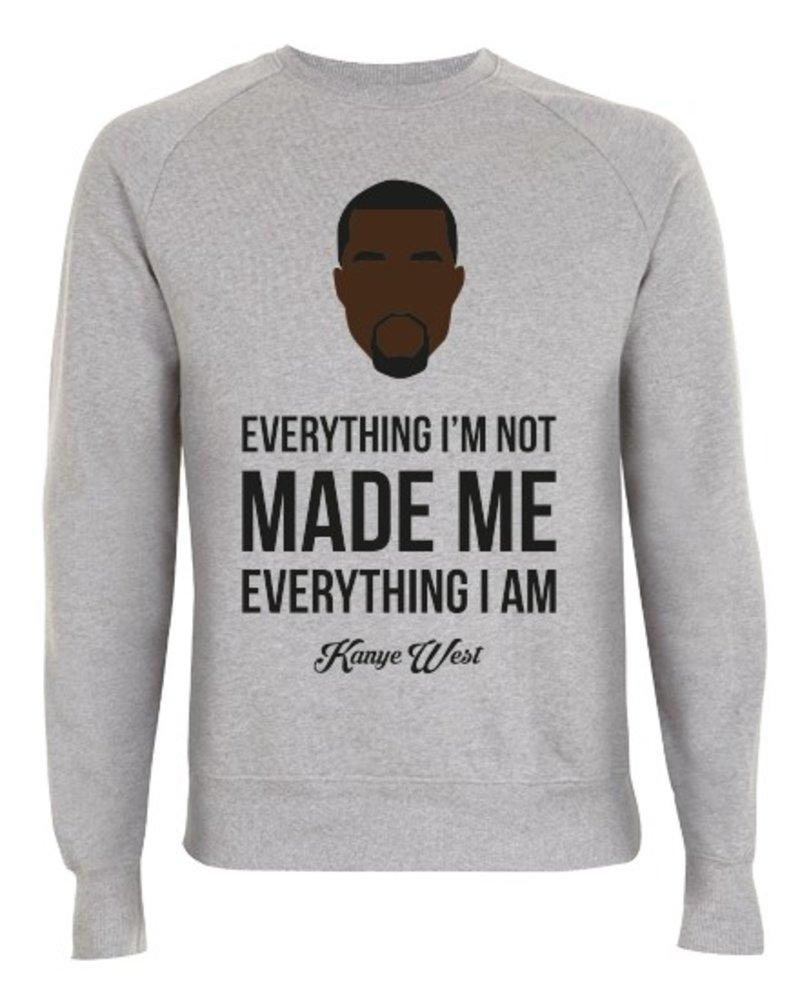 DOPE ON COTTON DOC Flat design Kanye Organic Crewneck Sweater