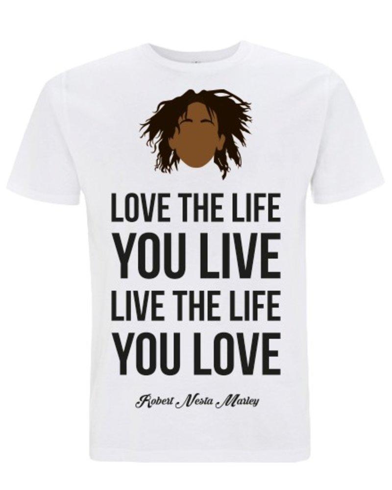 DOPE ON COTTON DOC Flat design Bob Marley Love Organic T-shirt