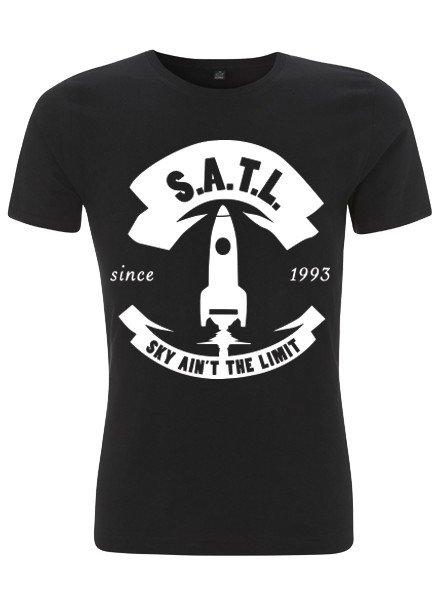 SATL (Sky Ain't The Limit) SATL SLIMFIT ORGANIC T BIG ROCKET BLACK