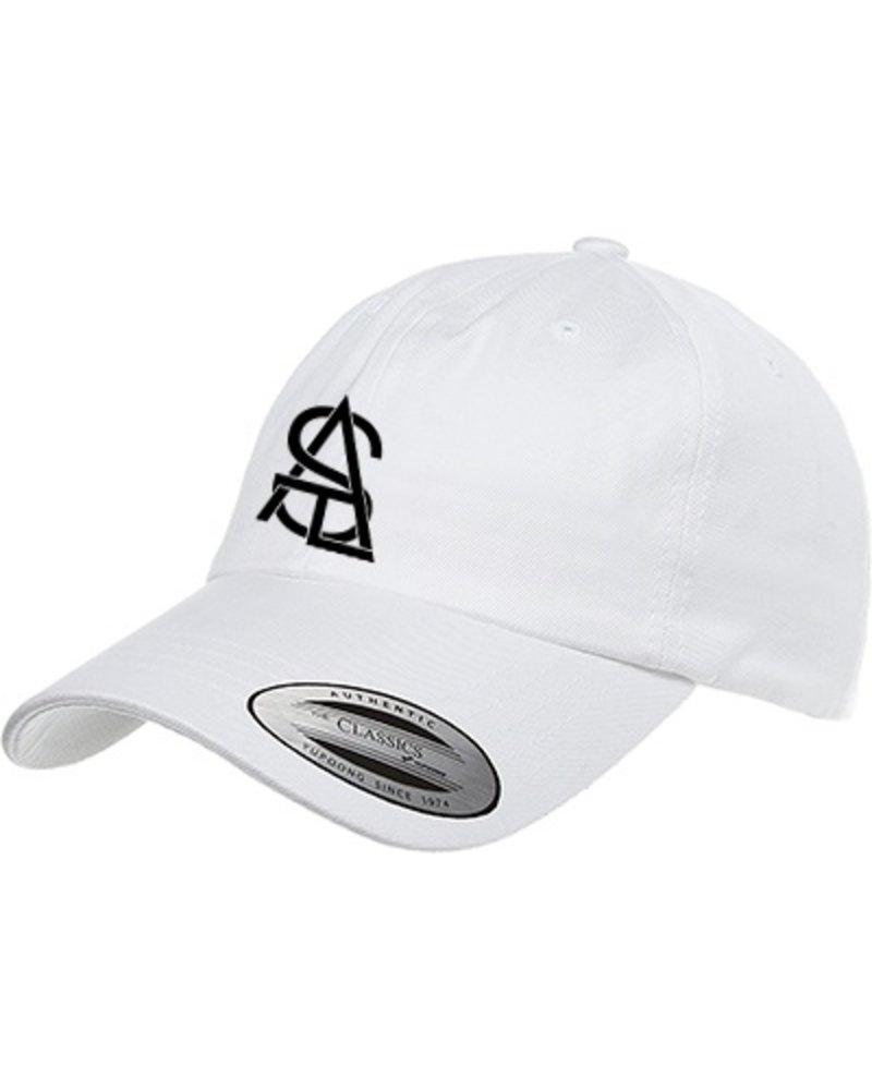 SATL (Sky Ain't The Limit) SATL DAD CAP LOW PROFILE LETTER LOGO WHITE
