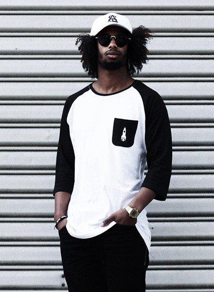 SATL (Sky Ain't The Limit) SATL Long baseball jersey (3/4 sleeves) White/ black
