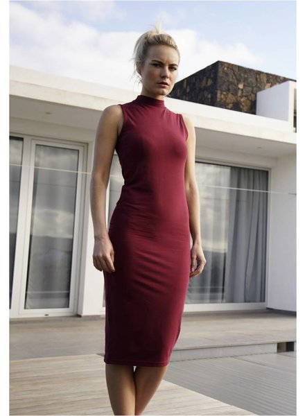 URBAN CLASSICS Stretch Jersey Turtleneck Dress