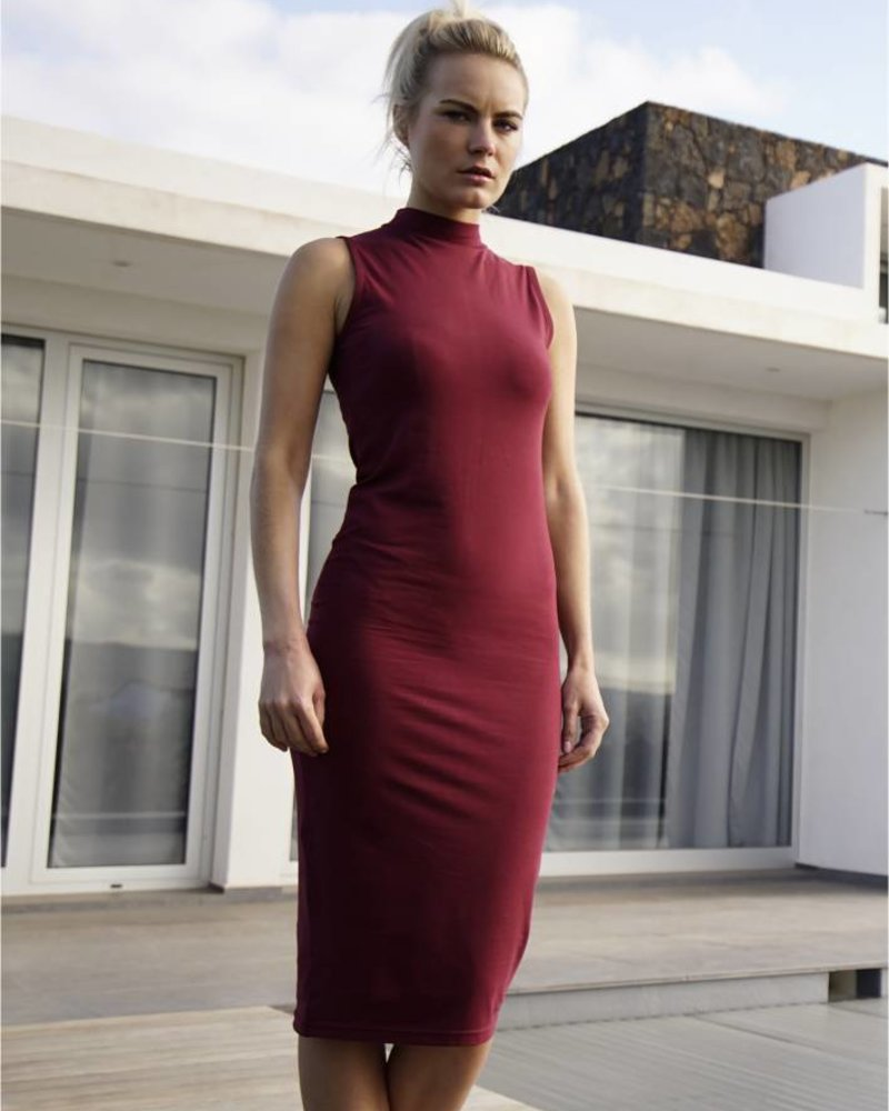 URBAN CLASSICS Ladies Stretch Jersey Turtleneck Dress