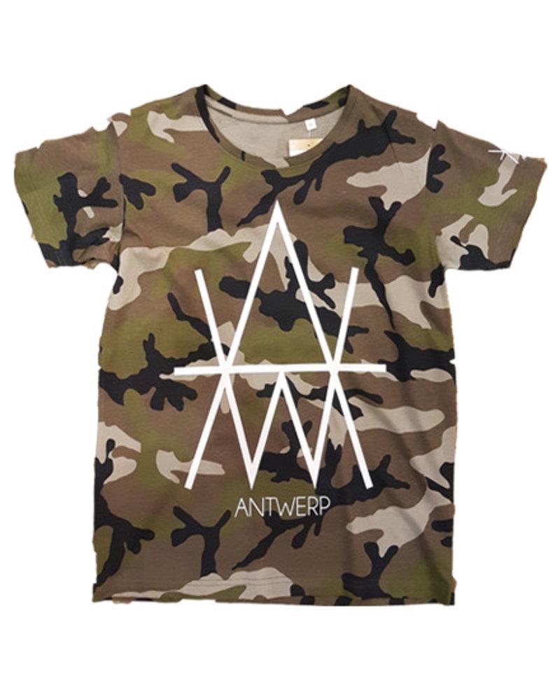 AW ANTWERP AW Original AW army T-shirt