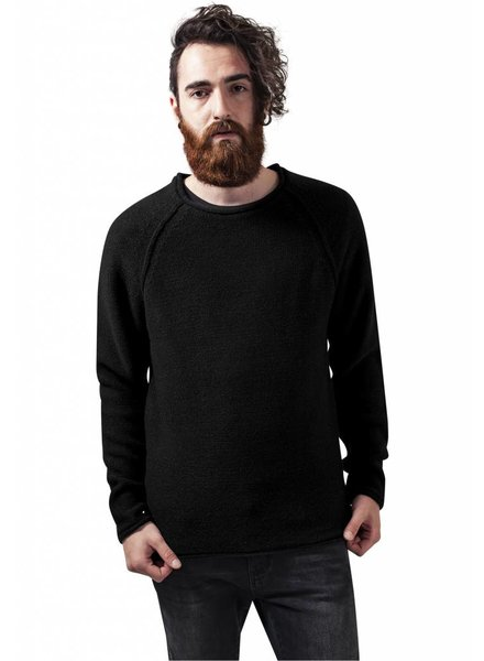 URBAN CLASSICS Raglan Wideneck Sweater