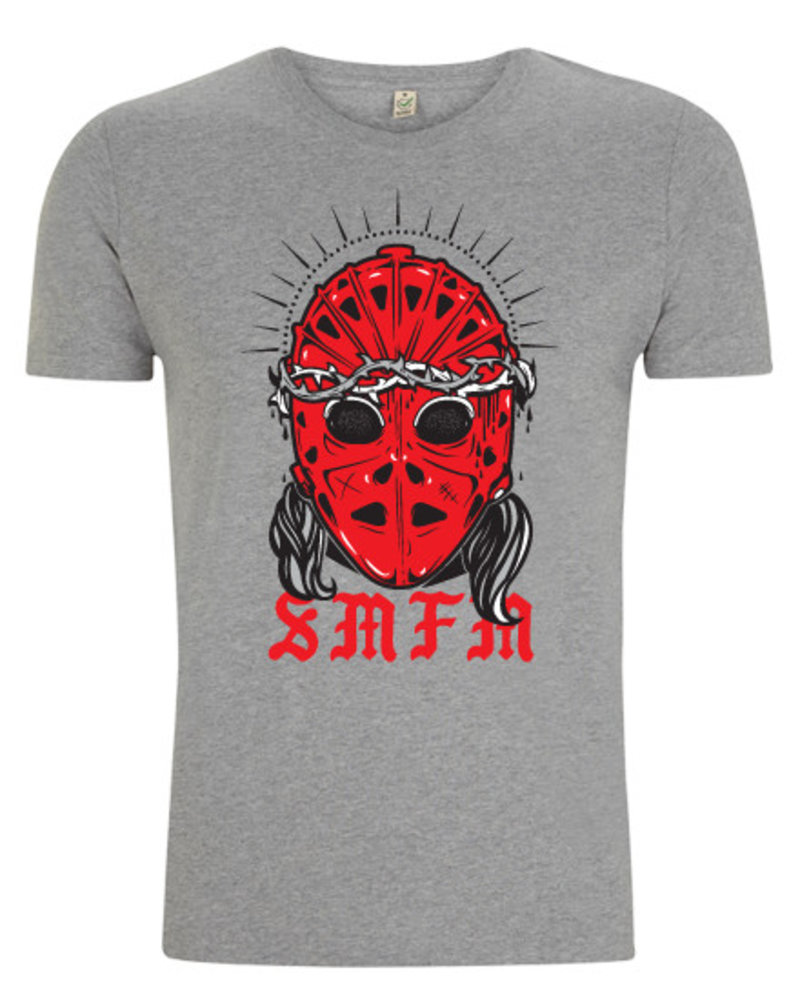 DOPE ON COTTON T-shirt SMFM red heat mask