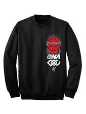 DOPE ON COTTON Sweater black SMFM tags red heat mask