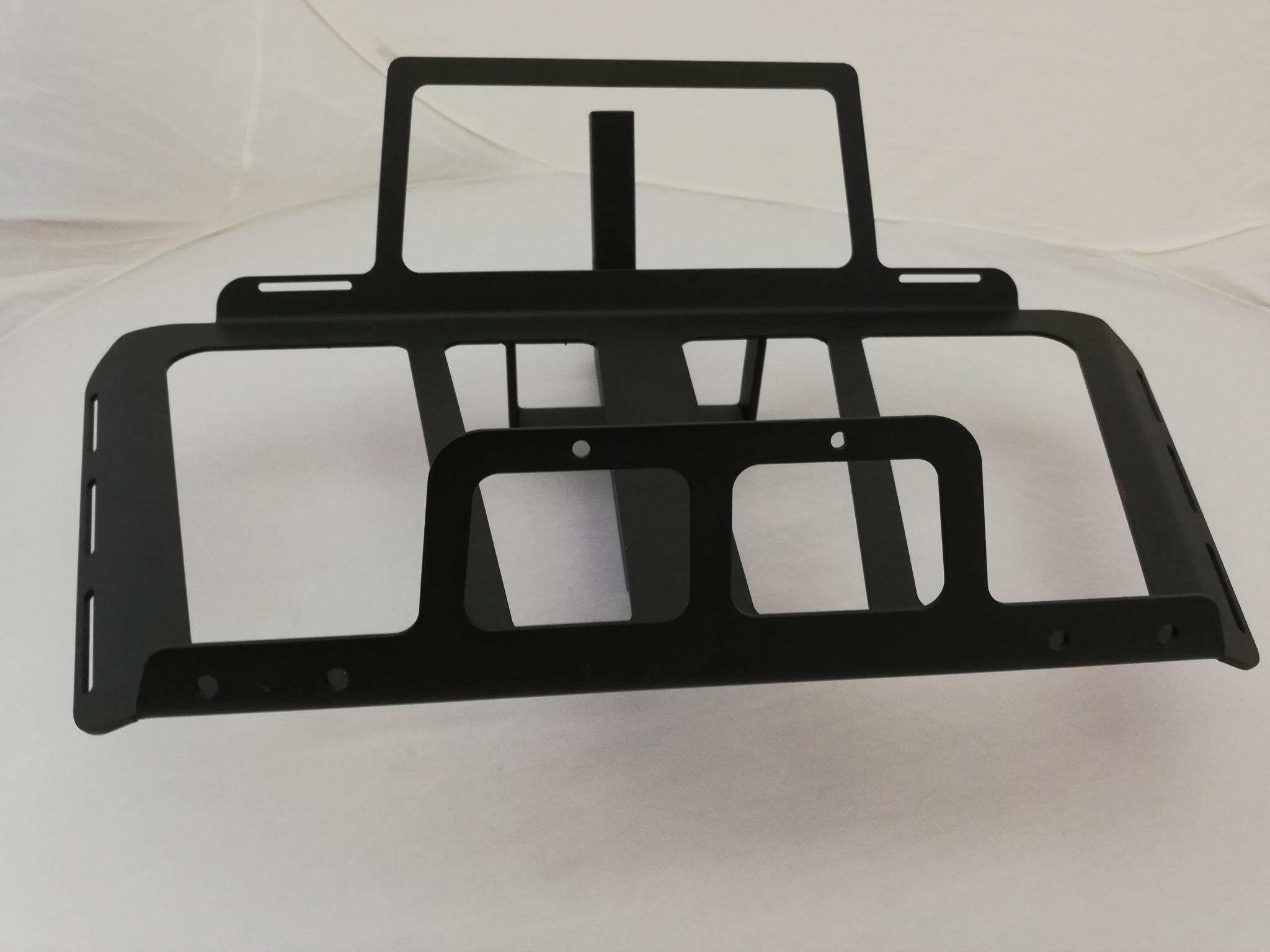 JVR Products Stainless Steel Bottom Mounted Rack GL1800 model 2018 Mat Black