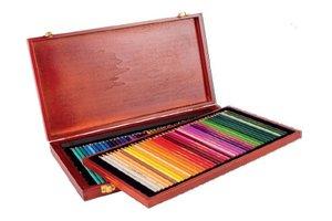 Kleurpotloden in houten doos (80 stuks)