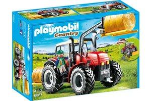 Playmobil 6867 Grote rode tractor met werktuigen