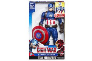 Hasbro Marvel Civil War Captain America Titan Hero Eectronic - 30cm