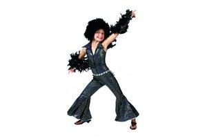 Disco Groovy Jumpsuit Zwart