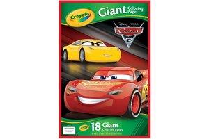 Crayola Disney Cars 3 - Reuze kleurplaten 18stuks