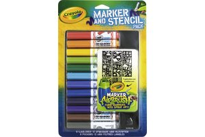 Crayola Mini viltstiften & sjablonenset (blauw)