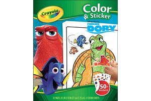 Crayola Disney Finding Dory - Kleur- en stickerboek