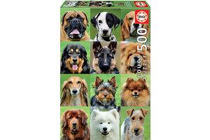 EDUCA puzzel 500st hondencollage