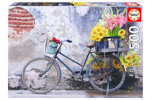 EDUCA puzzel 500st fiets en bloemen