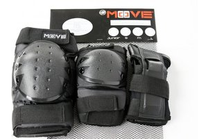 Maple Leaf Beschermset 3-Pack Basic Junior Move (zwart)