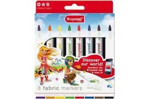 Talens Bruynzeel Inspiring Young Fabric Markers - 8stuks