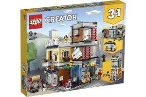 LEGO Woonhuis, dierenwinkel & café - 31097