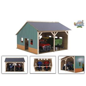 Kids Globe Landbouwloods (55x77,5x38cm) voor 3 tractoren