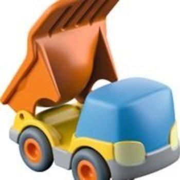Haba Bulldozer (auto met vliegwielmotor) voor kogelbaan rollebollen