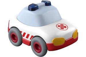 Haba Ziekenwagen (auto met vliegwielmotor) voor kogelbaan rollebollen