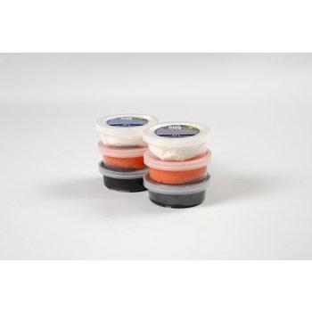 Creotime Silk Clay Halloween 6x14gr - wit/oranje/zwart