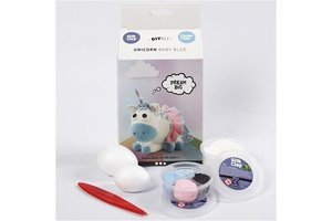 Creotime Silk Clay Funny Friends - Unicorn Baby Blue