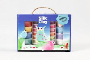 Creotime Silk Clay Cadeauset 28-delig - assorti kleuren