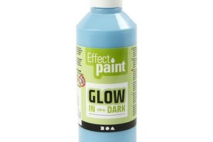Glow-in-the-Dark verf 250ml - lichtblauw