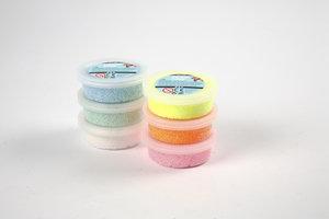 Creotime Foam Clay Glitter 6x14gr - assorti kleuren