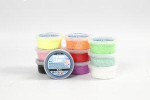 Creotime Foam Clay Glitter 10x35 gr - assorti kleuren