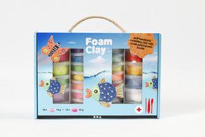 Creotime Foam Clay Cadeauset 28-delig - assorti kleuren