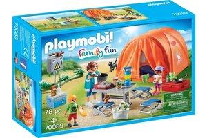 Playmobil Kampeerders met tent - 70089