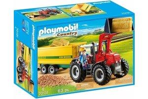 Playmobil Grote tractor met aanhangwagen - 70131